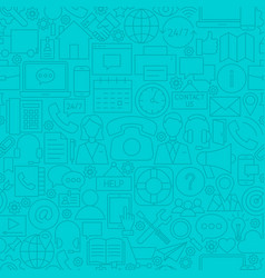 contact us line tile pattern vector image vector image