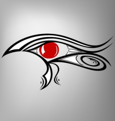 Egyptian eye Ra vector image