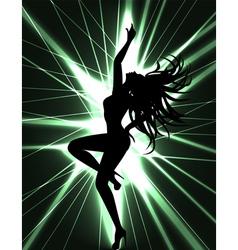 go go dancer and laser show vector image