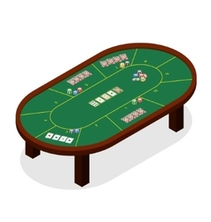 Green Poker Table Isometric View vector image vector image
