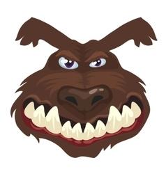 Portrait of a wolf head cartoon wild animal vector image