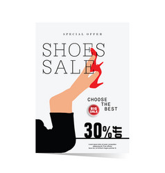poster of shoes sale vector image vector image