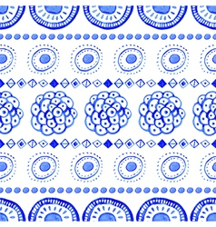 Seamless abstract watercolor pattern hand drawn vector image