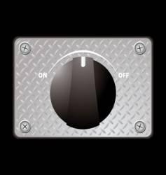 switch metal panel vector image