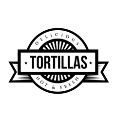 Tortillas stamp vitage style logo vector image