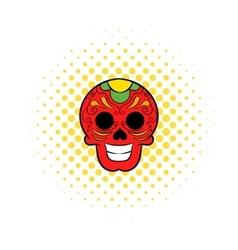 Latin skull icon comics style vector image