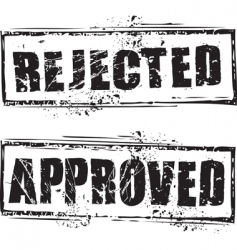 rejected and approved stamps vector image