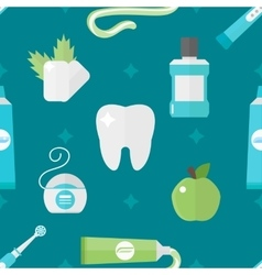 tooth health pattern vector image vector image