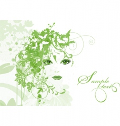 women with flowers vector image