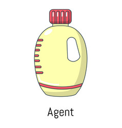 agent bottle icon cartoon style vector image