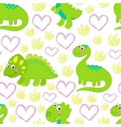 Dinosaur Rex seamless pattern vector image vector image