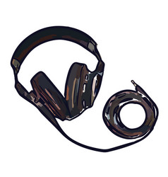 full size monitor headphones vector image vector image