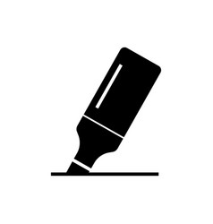 marker icon black sign on vector image vector image