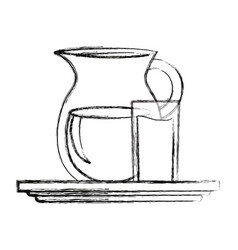 pitcher and glass icon vector image
