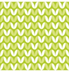 Tile green and white knitting pattern vector image