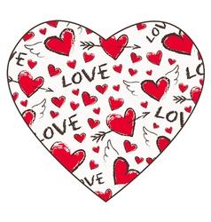 Valentine Day pattern vector image