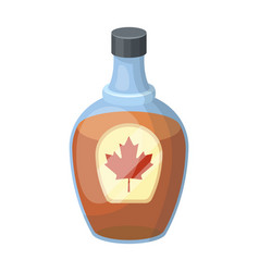 canadian maple syrup in a bottle canada single vector image