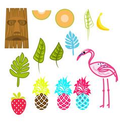 hawaii aloha clip art set vector image