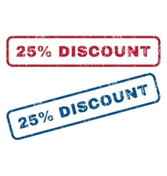 25 Percent Discount Rubber Stamps vector