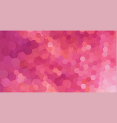 abstract mosaic backdrop pink color with hexagons vector image