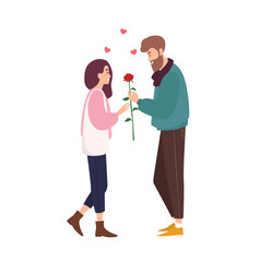 adorable happy couple in love on romantic date vector image