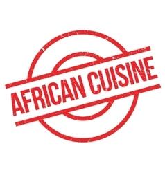 African Cuisine rubber stamp vector