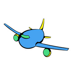 aircraft icon icon cartoon vector image