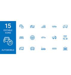 Automobile icons vector