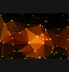 Black orange yellow geometric background with vector