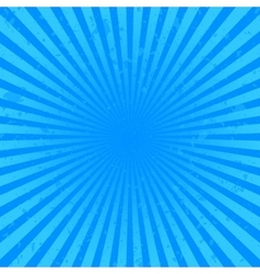Blue starburst background vector image