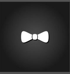 bow tie icon flat vector image