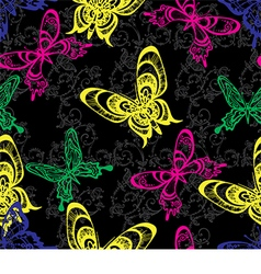 Bright pattern with butterflies vector
