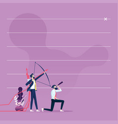 Businessman aiming target-business concept vector