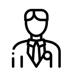 Candidate appearance icon outline vector