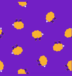 cartoon disco sheep lilac pattern vector image
