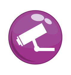 cctv camera button icon vector image
