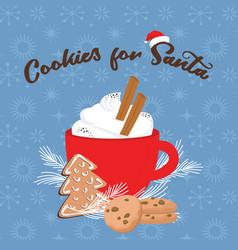christmas greeting card winter invitation vector image