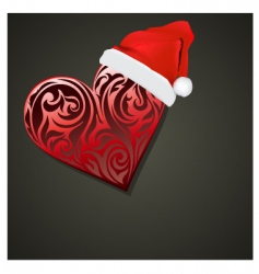 christmas heart vector image