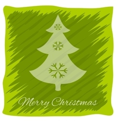 Christmas or New Year s greeting card logo vector