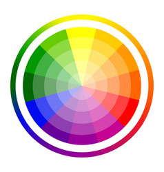 Color circle of twelve vector