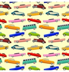 Colorful seamless pattern with limousines vector image