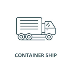 container ship line icon linear concept vector image