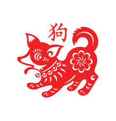 Dog lunar year vector