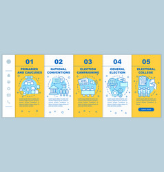 Election day onboarding mobile web pages template vector