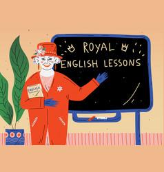 English lesson portrait teacher near vector