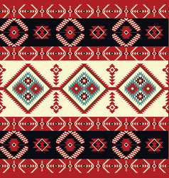 ethnic seamless pattern geometric design vector image