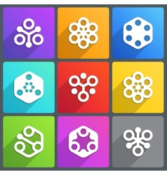 Flat abstract icon with shadow vector image
