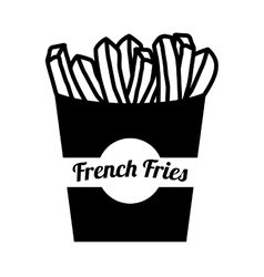 french fries potato vector image