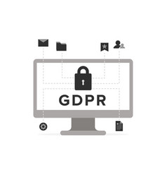 general data protection regulation - gdpr concept vector image