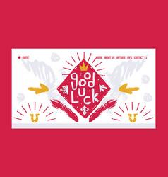 good luck website design vector image